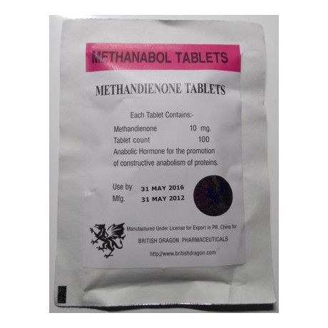 Methanabol 10mg x 100 tablets (British Dragon)